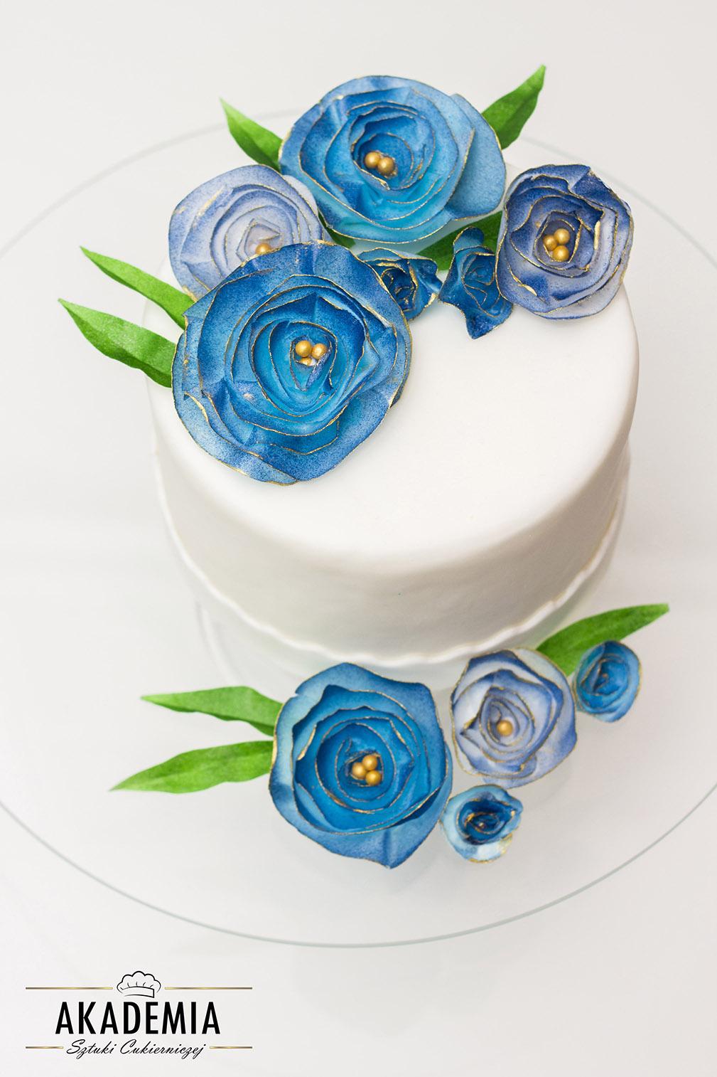 kwiaty na tort