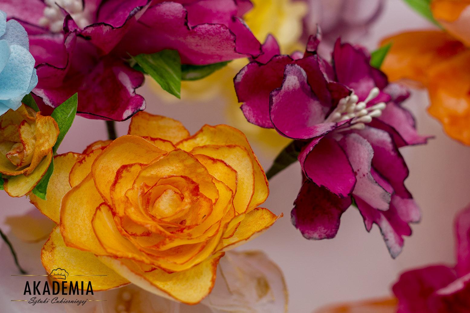 papier jadalny kwiaty