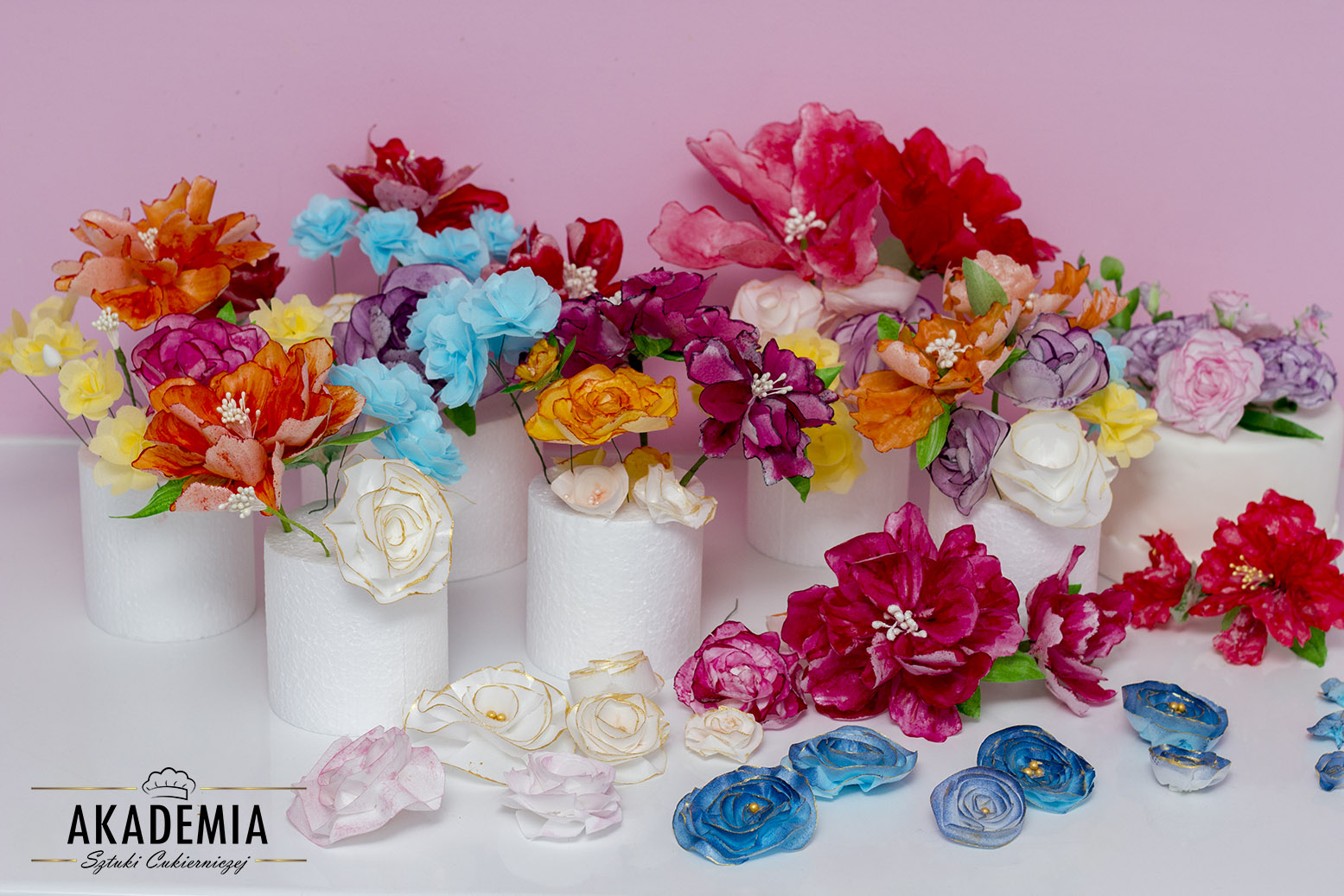 kwiaty z papieru ryżowego