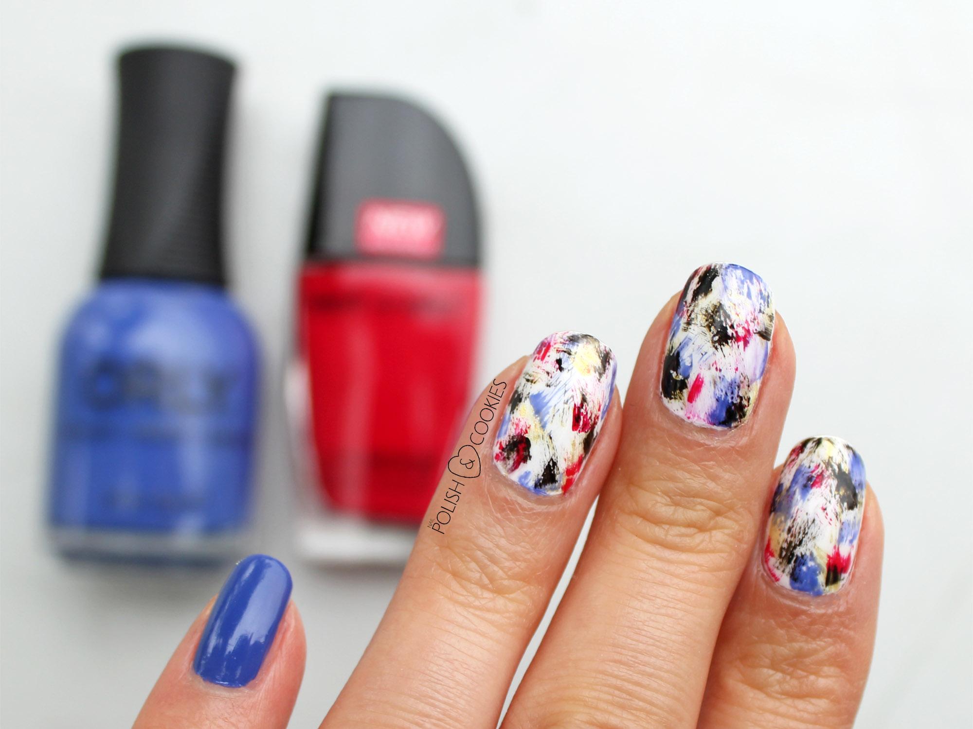 abstrakcyjne paznokcie