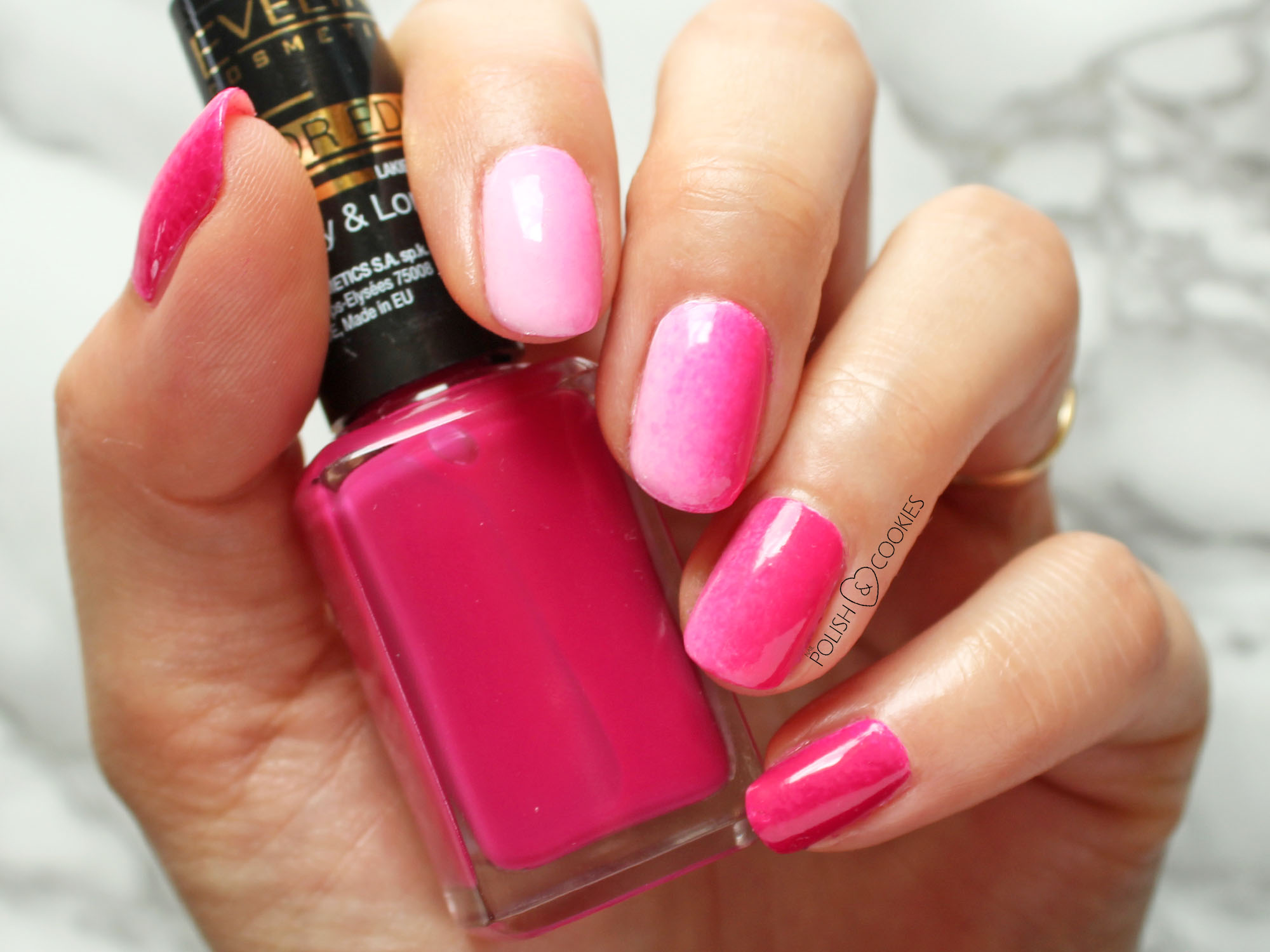 paznokcie ombre rózowe