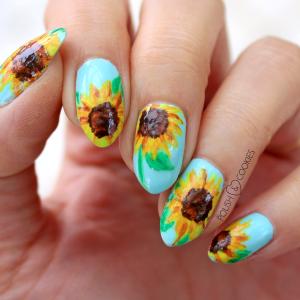 paznokcie sloneczniki