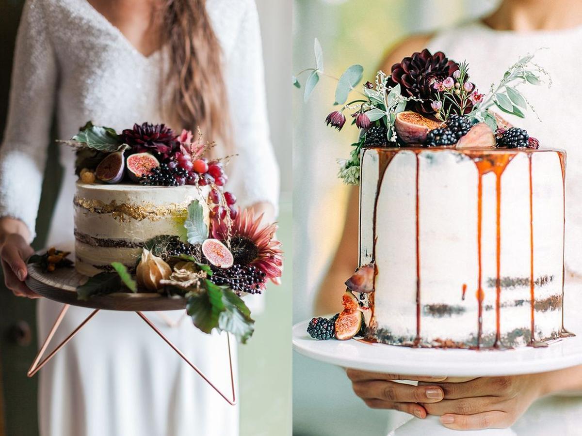 naked cake jesienny