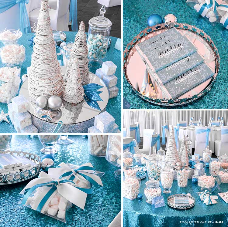 zimowy slodki stol wesele