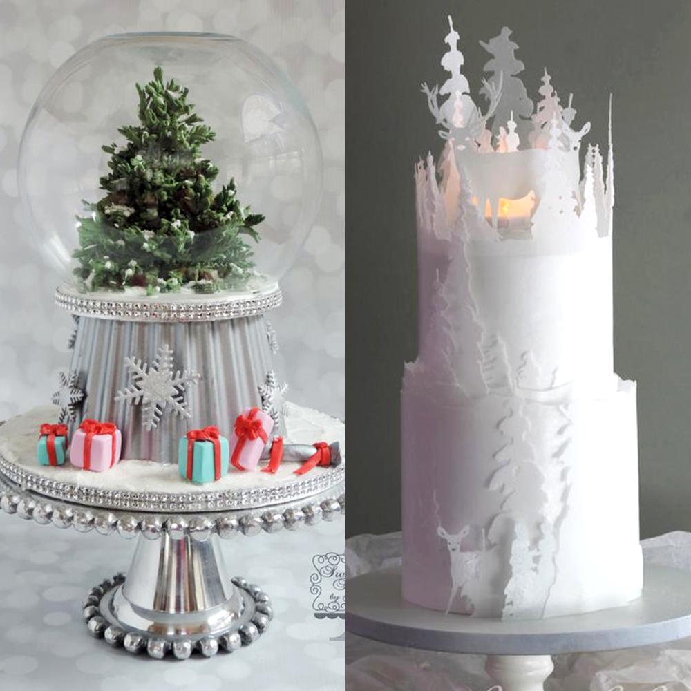 zimowe wesele torty