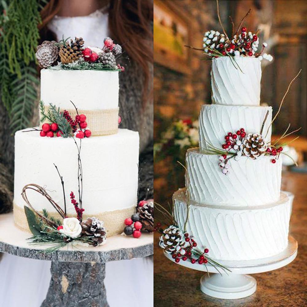 zimowe wesele torty rustykalne inspiracje