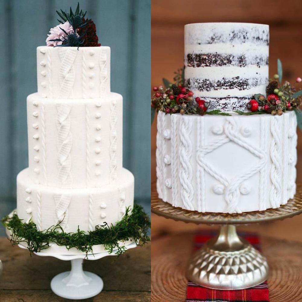 zimowe wesele torty sweterki inspiracje