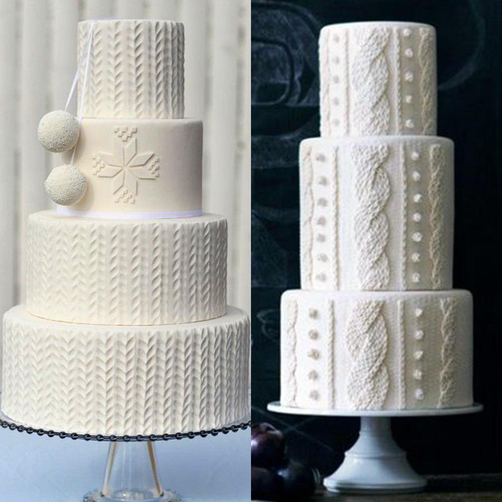 zimowe wesele torty sweterki