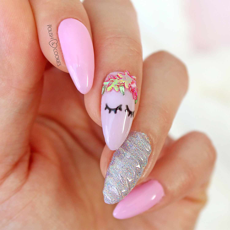 paznokcie unicorn