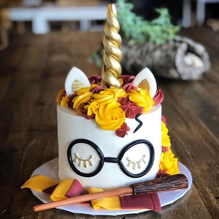 tort harry potter jednorozec