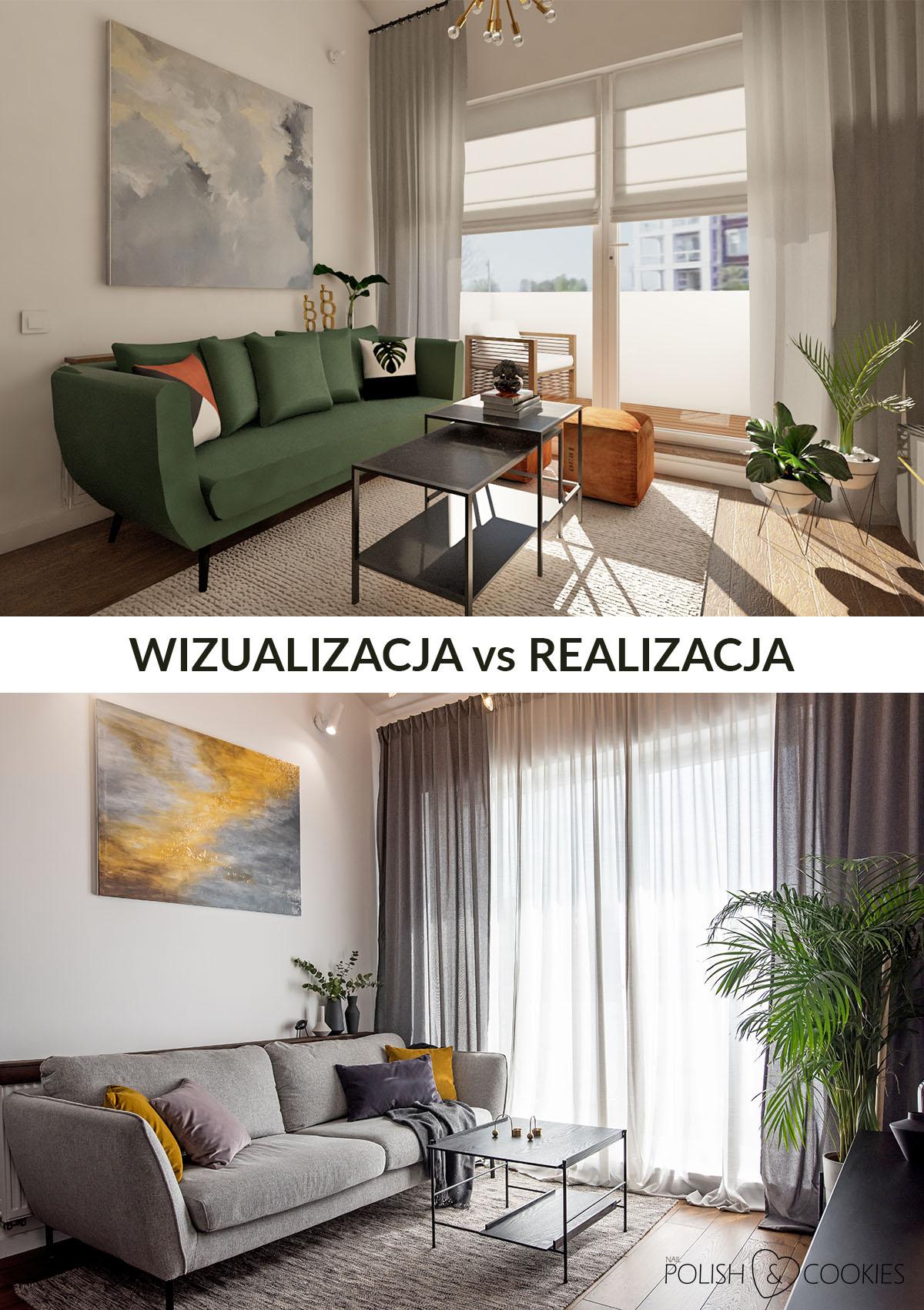 wizualizacja vs realizacja salon