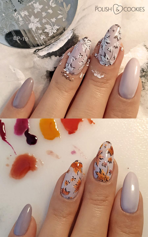 paznokcie jesienne liscie