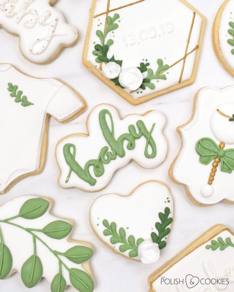 ciasteczka baby zielone