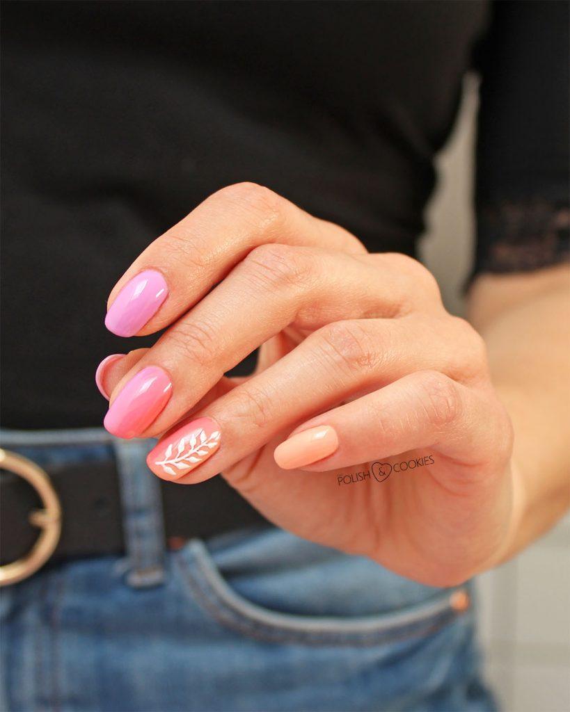 paznokcie ombre rozowe