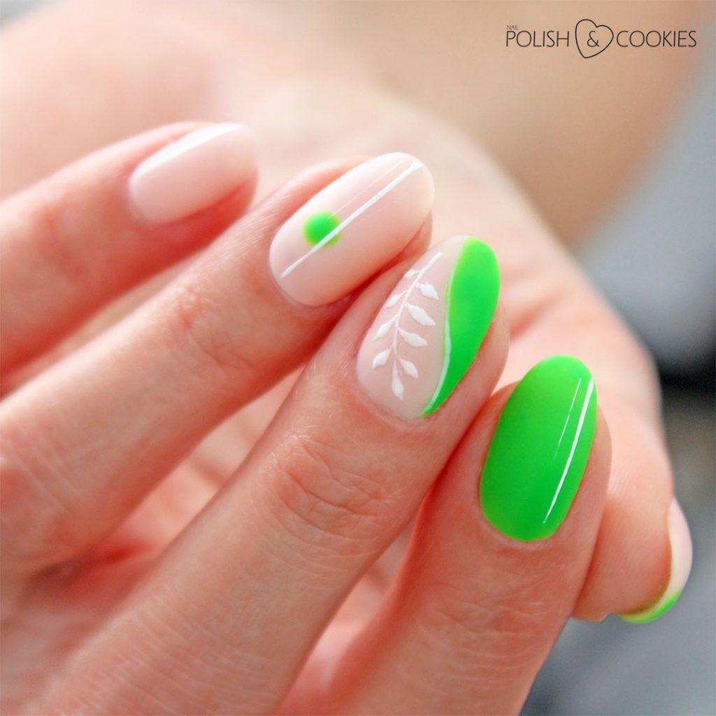 neonowa zielen paznokcie