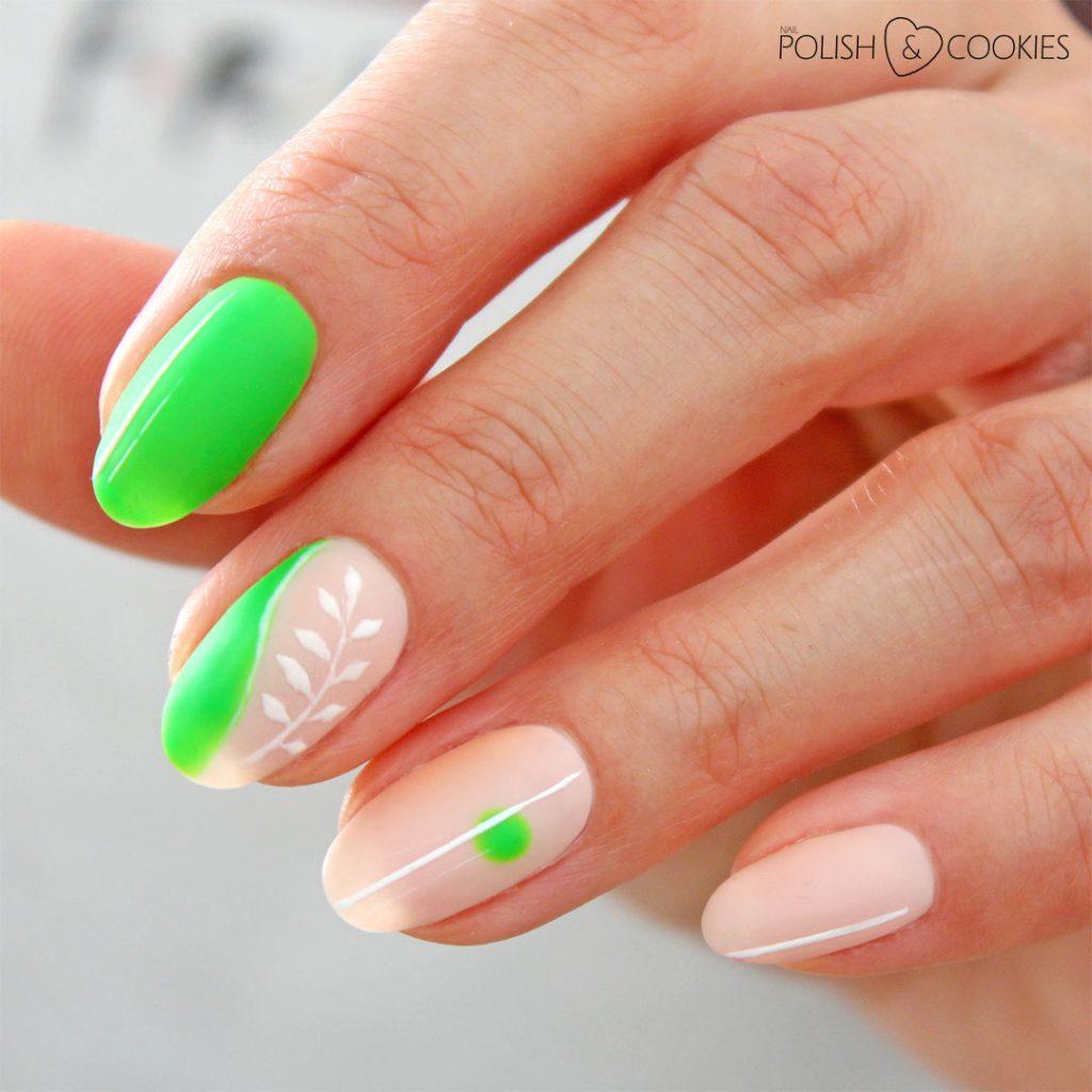 paznokcie neonowa zielen
