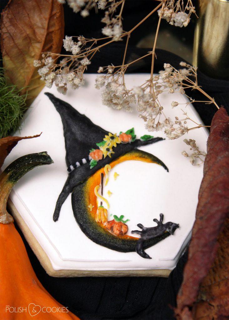 ciasteczka księżyc halloween